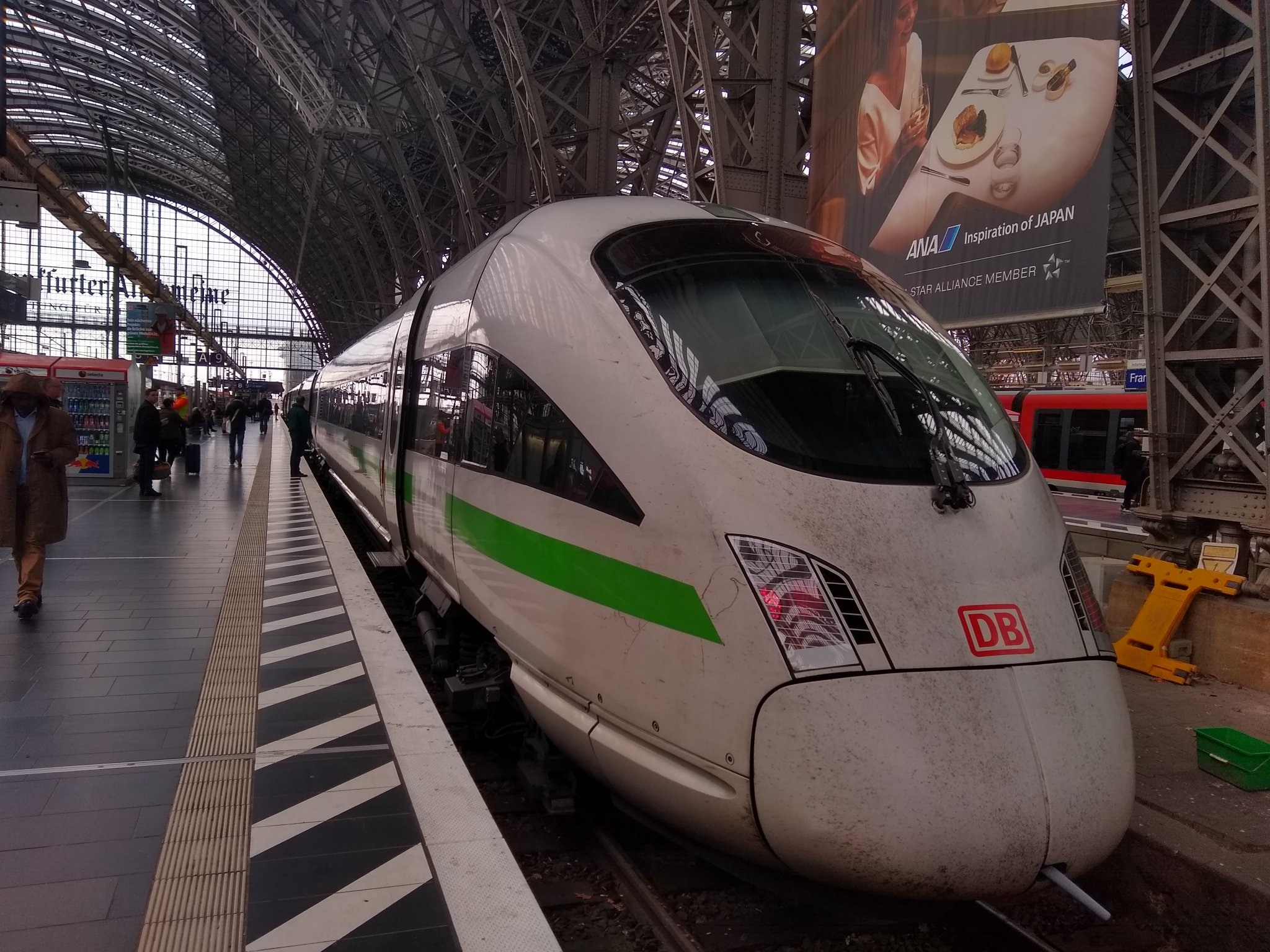 The ICE train to Wien Hbf is about to depart