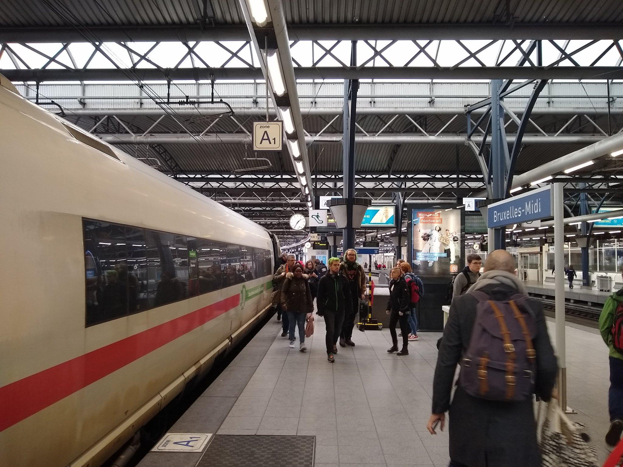 Platform at Bruxelles-Midi