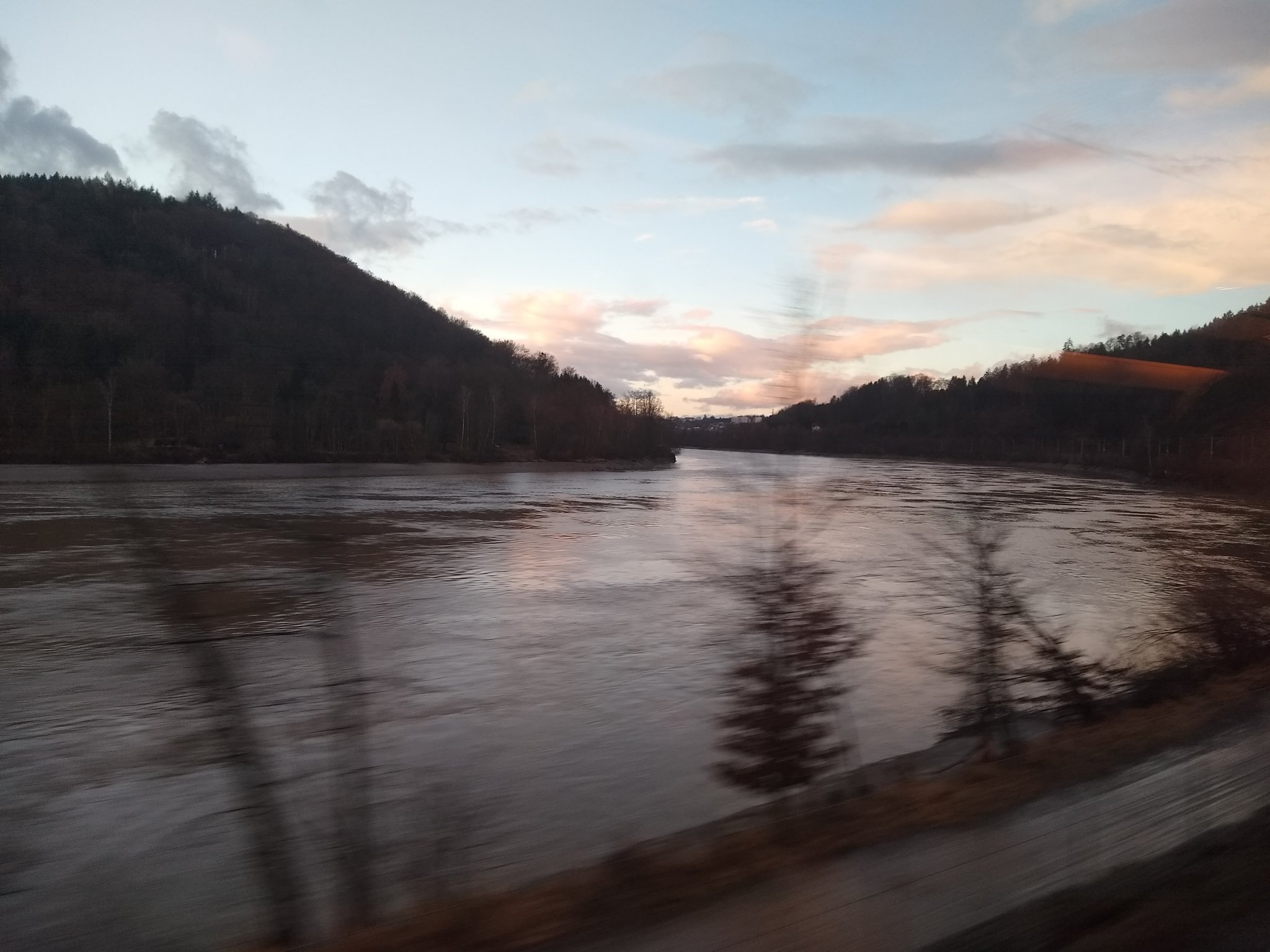 The view out of the window: going along the river from Passau to Linz