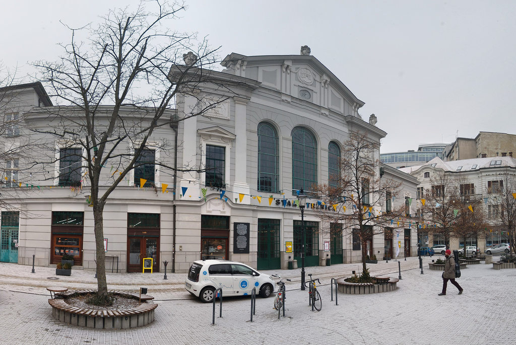 The old market hall in the winter
