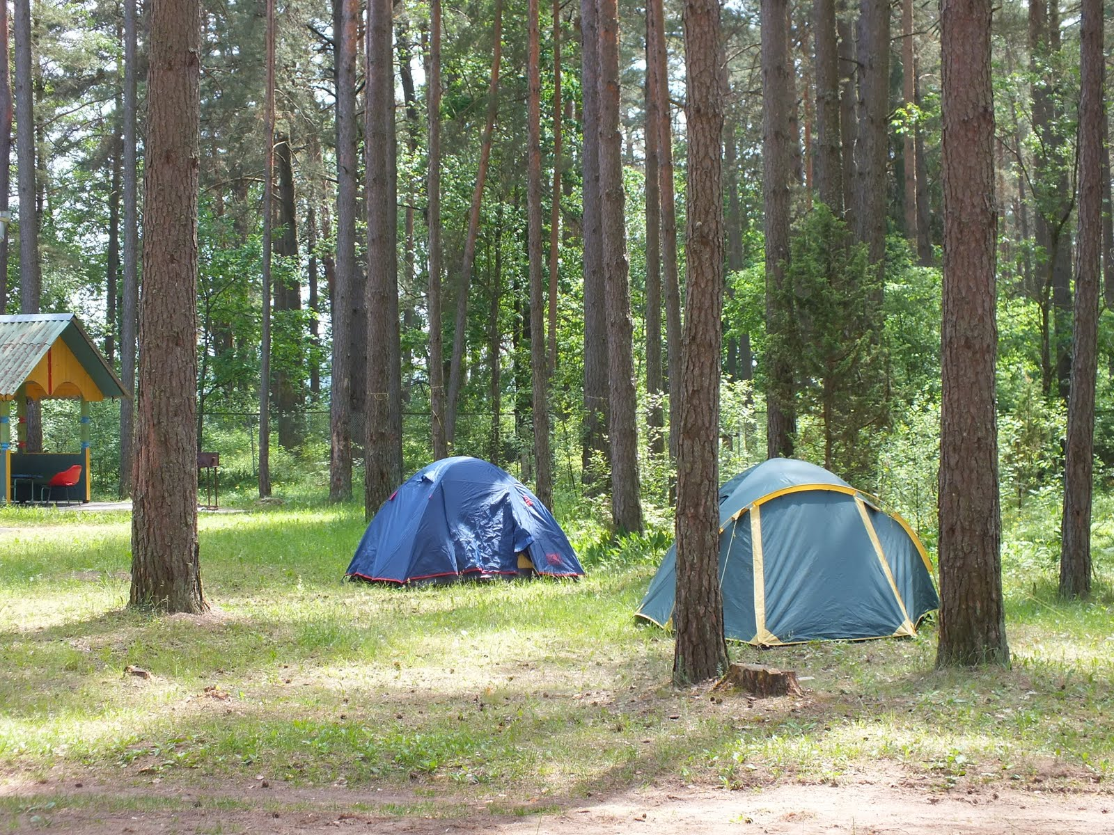 Tents of some of the participants